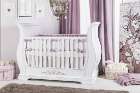 Sleigh Bed Cribs Romina Venice Sleigh Crib In White With Gold Leaf Applique