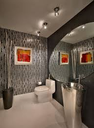 always on trend 20 powder rooms in black and white gray offers a smart compromise between black and white design interiors by steven g