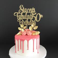 50 and fabulous cake topper any age name 50th birthday cake topper 50 years loved cake