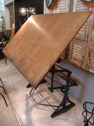 Architects Drafting Table Antique Architect S Drafting Table Signed Darnay