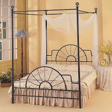 Iron Rod Bed Frame Black Painted Iron Wrought King Size Canopy Bed Frames Of