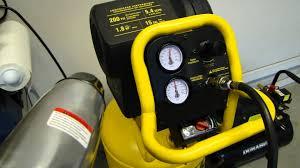 dewalt d55168 air compressor for the garage part 1 youtube