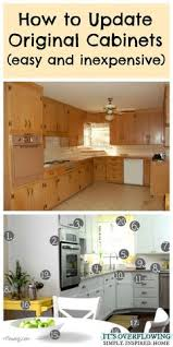 How To Transform Kitchen Cabinets Inexpensively Update Old Flat Front Cabinets By Adding Trim Paint