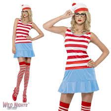 where s waldo costume fancy dress costume where s wally waldo wenda cutie dress