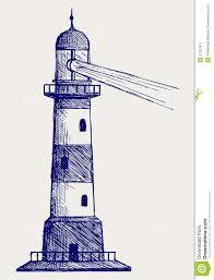 lighthouse doodle style stock image image 27927671