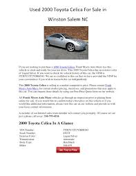 used 2000 toyota celica for sale used 2000 toyota celica for sale in winston salem