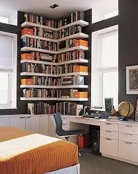 Creative Bookshelf Designs Corner Letter L Shapes Contemporary Modern And Creative Bookshelf