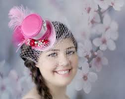 tea party hats pink mini top hat bridal hat mini hats tea party hat mad
