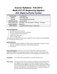 beginning algebra with lab