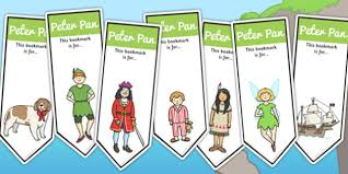 pan editable bookmarks peter pan book story bookmark