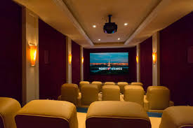 maryland home theater riverfront limestone estate inspired by spanish aragon