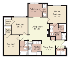 Floor Plan Of 3 Bedroom Flat The Vistas Apartments Apartments In Lynchburg Va The Sycamore