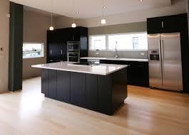 floor black wooden glalley kitchen plus interior kitchen interior