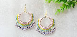 Jewelry Making Design Ideas Easy Earring Design For Green Hands U2013 Making Beaded Multi Color