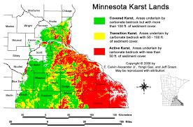 Minnesota Usa Map by Five Sinkholes Of Newgoz Sinkholes And Karst Terrain Regions In