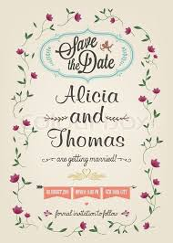 save the date wedding cards save the date wedding invitation card stock vector colourbox