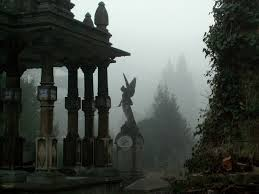 cemetery statues statues in the mist within cemetery david j rodger science