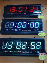 modern red led wall clock 68 led digital wall clock online