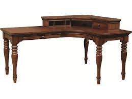 L Desk With Hutch by Aspenhome Villager Curve L Desk With 1 Drawer And 4 Ac Outlets