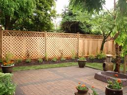 Privacy Fence Ideas For Backyard Vinyl Privacy Fence With Lattice For West Side Of Backyard