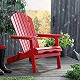 amazon com red adirondack chairs chairs patio lawn u0026 garden