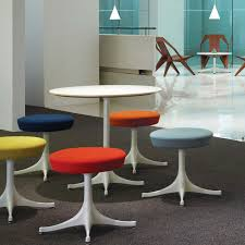 contemporary stool steel textile commercial pedestal