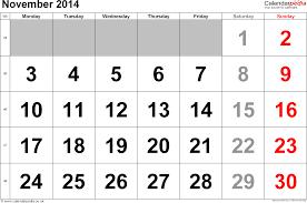 calendar november 2014 uk bank holidays excel pdf word templates