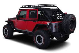 jeep wrangler unlimited sport soft top renegade roof rack warrior products