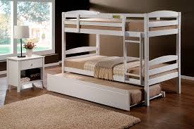 Cosmos White King Single Bunk Beds  Single Trundle Bed - King single bunk beds