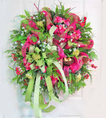 spring door wreaths deco mesh spring door wreath ladybug wreaths by nancy alexander