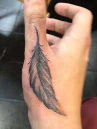 28 feather finger tattoos