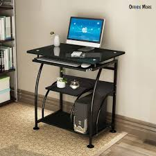 fabulous computer desk for laptop with furniture black glass