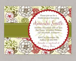Christmas Baby Shower Invitations - christmas bridal shower invitation baby shower invitation floral