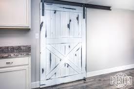 Distressed Barn Door by Distressed White Knotty Alder Door Porter Barn Wood
