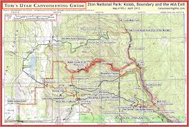 Utah Map Usa by Kolob Canyon Aka Kolob Creek Canyoneering Usa