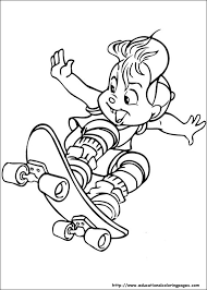 chipmunks coloring pages educational fun kids coloring pages