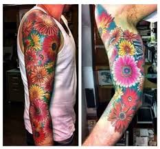 ideas flower sleeve flower sleeve tattoos flower sleeve