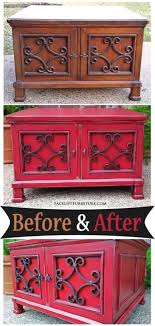 red and black coffee table coffee table in barn red black glaze before after facelift