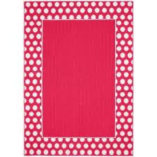 pink garland garland rug polka dot frame pink white 5 ft x 7 ft area rug