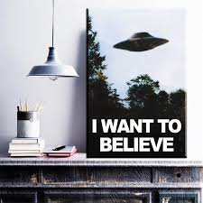 believe home decor zz1633 vintage classic movie the poster i want to believe poster