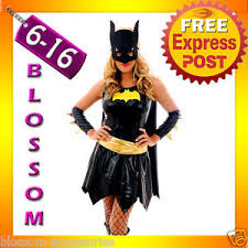 Batgirl Halloween Costume Accessories F76 Batgirl Super Hero Superhero Ladies Fancy Dress Costume