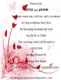 Wedding Invitation Greetings Wedding Invitation Wording Samples Summer Wedding Invitations