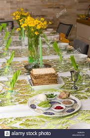 modern seder modern festive passover seder table with green and gold