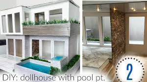 2 house with pool diy dollhouse with pool pt 2 interior
