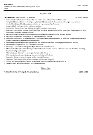 Analyst Resume Example Data Analyst Resume Sample Velvet Jobs
