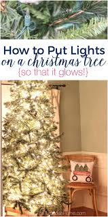 how to put lights on a tree so that it glows the