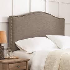bedroom astonishing bed combined with alluring linen headboard