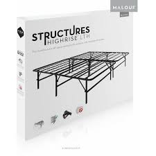 Space Saving Queen Bed Frame Structures Highrise Foldable Bed Frame And Mattress Foundation