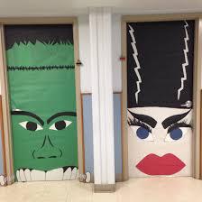 How To Make Halloween Door Decorations Monster Mash Frankenstein Bride Of Frankenstein Door Decoration