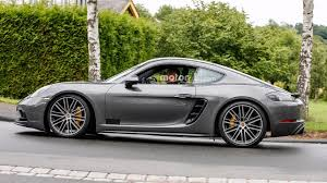 porsche dark green 2018 porsche cayman gts spied virtually undisguised